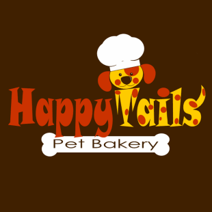 The logo for Happy Tails Pet Bakery.